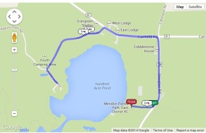 Click on the course map to view